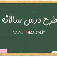 طرح درس سالانه عربی پایه هشتم متوسطه اول در قالب word